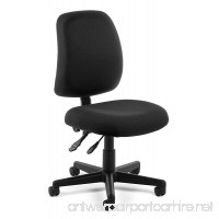 OFM Posture Series Armless Mid Back Task Chair - Stain Resistant Fabric Swivel Chair  Black (118-2) - B006LP14CQ