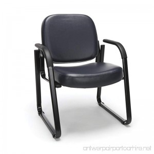OFM Reception Chair with Arms - Anti-Microbial/Anti-Bacterial Vinyl Guest Chair Navy (403-VAM) - B003IR5WF0