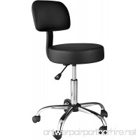 OneSpace Medical Stool with Back Cushion Black - B01IVQHELM