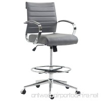 Poly and Bark Tremaine Drafting Chair in Vegan Leather  Grey - B0767NKM5J