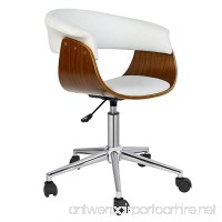 Porthos Home Office Chair Designer Executive Office Furniture with Thick Padding for Comfort Height Adjustable Easy Clean Walnut Veneer/PU Leather 21x23x33 inch A Stylish Home Office Chair - B011X7H34Y