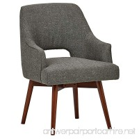 Rivet Mid-Century Open Back Swivel Chair 24 W Marble - B075Z8M22B