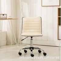 Roundhill Furniture OF1011BG Fremo Chromel Adjustable Air Lift Office Chair Beige - B072J5W4NJ