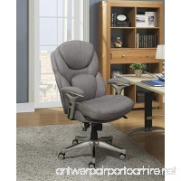 Serta Works Executive Office Chair with Back in Motion Technology  Seamless Light Gray Fabric - B075D9TBG9