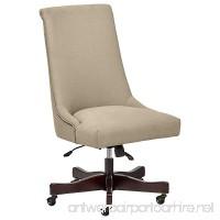 Stone & Beam Nailhead Swivel Office Chair with Wheels 28.4 W Fawn - B075ZHP9V7