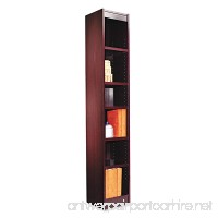 Alera ALEBCS67212MY Narrow Profile Bookcase Wood Veneer Six-Shelf 12w x 11-3/4d x 72h Mahogany - B003I85VQO
