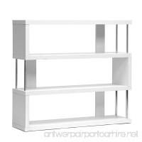 Baxton Studio Barnes 3-Shelf Modern Bookcase  White - B00HFLVS3U