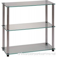 Convenience Concepts Designs2Go Go-Accsense 3-Shelf Glass Bookcase Clear Glass - B000W9TVEK