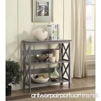 Convenience Concepts Oxford 3-Tier Bookcase  Gray - B074T5KFT9