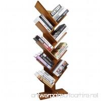 COPREE Bamboo 9-Shelf Tree Bookshelf Book Rack Display Storage Organizer Bookcase Shelving Free Standing Bookshelves for CDs Movies & Books Holder - B078R4NXNS