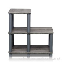Furinno 14032GY/GY Turn-N-Tube Accent Decorative Shelf  French Oak/Grey - B00NIYX818