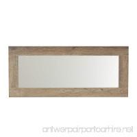 Household Essentials 8078-1 Ashwood Wall Mirror | Horizontal or Vertical | Gray-Brown - B074PHDPCW