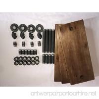Industrial Pipe Bookcase Wall Shelf Rustic Floating Wood Shelves Shelving (24'') - B06Y51RHXX