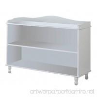 King's Brand Furniture - White Wood Children's 2-shelf Bookcase Display Cabinet - B0049PPWWS