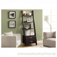 Monarch Specialties I 2542 Bookcase Ladder with 2-Storage Drawers Cappuccino 69 H - B00AQMA2BE
