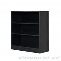 Mylex Three Shelf Bookcase; Two Adjustable Shelves; 11.63 x 29.63 x 31.63 Inches Black Assembly Required (43064) - B00VEDIHPC