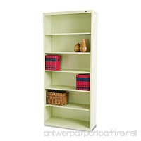 Tennsco B78PY 34-1/2 by 13-1/2 by 78-Inch Metal Bookcase with 6 Shelves Putty - B00275FLAK