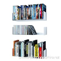 Wallniture Bali U Shape Bookshelves - Wall Mountable Metal CD DVD Storage Rack White Set of 3 - B071HPW2CP