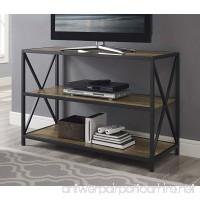 WE Furniture Wood Media Bookshelf in Rustic Oak - 40 - B0767VG639