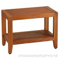 Bare Decor Teak Serenity Spa 24 Bench with Shelf - B01MS7E5ZZ