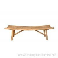 "boohugger Natural Bamboo Asahi Bench | Japanese Zen Design | Garden Bench | Handmade | 59""x18""x18"" - B07BBHNS5W"
