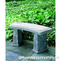 Campania International BE-24-AS Dragonfly Curved Bench  Alpine Stone Finish - B007C9JCDI