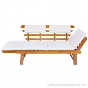 Festnight Outdoor Patio Sun Bed Garden Bench Solid Acacia Wood 74.8 x 26 x 29.5 - B0794T7RHS