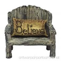 Miniature Fairy Garden - Bench w/ Believe Pillow (2-piece set) - B076JKY3KR
