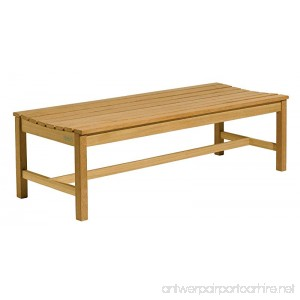 Oxford Garden 5-Foot Shorea Backless Bench - B00004YO3W
