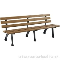 Park Bench With Backrest 6'L Tan - B06XB5JR67