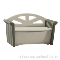Rubbermaid Outdoor Patio Storage Bench 4 cu. ft Olive/Sandstone (FG376401OLVSS) - B000NUWKOG