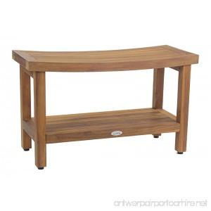 Sumba 30 Teak Shower Bench with Shelf - B01N9RKAP1