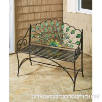 The Lakeside Collection Peacock Bench - B07BK8PK7T