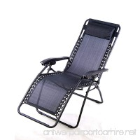Anti-Gravity Chair Zero-Gravity Chair Super Comfortable Lounge Patio Chairs Outdoor Yard Beach Garden Folding Chair With Cup Holder - B007ALTY9U