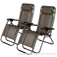 Idealchoiceproduct 2-Pack Zero Gravity Outdoor Lounge Chairs Black Patio Adjustable Folding Reclining Chairs with Removable Pillow (Black Checkered) - B07DNSQ27X