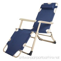 Lucky Tree Outdoor Zero Gravity Lounge Chair Patio Beach Pool Folding Recliner (Darkblue) - B078LWMKL7