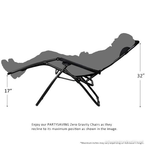 PARTYSAVING Infinity Zero Gravity Outdoor Lounge Patio Pool Folding  Reclining Chair APL1059 Black   B0157AR71M