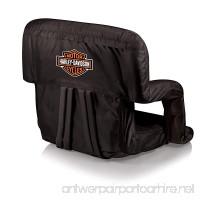 PICNIC TIME Harley Davidson Ventura Portable Reclining Stadium Seat - B00UFQ7Y80