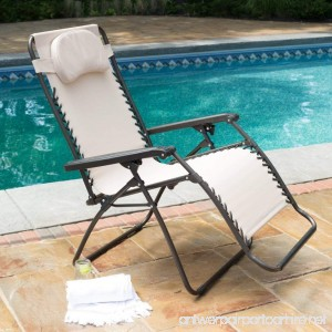 Premium Patio Chairs Zero Gravity Chair Caravan Canopy Lounge Outdoor Folding Oversized Recliner Toffee - B00Y6NSK72