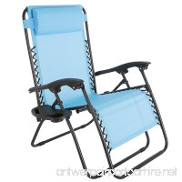 Pure Garden Oversized Zero Gravity Chair with Pillow and Cup Holder - B01NAUUCYU