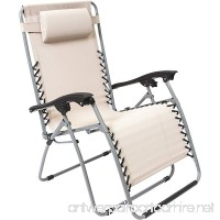 XL Multi-Position Zero-Gravity Chair — Beige - B07CBD3YS7