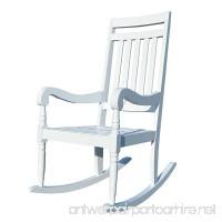 Carolina Chair & Table Belmont Slat Rocker White - B01CSYK32K
