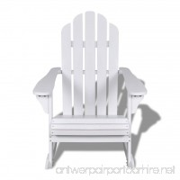 Festnight Wooden Rocking Chair Indoor and Outdoor Furniture Chairs for Porch Patio Living Room Garden White - B07C3PP5MT