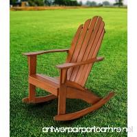 Fullrich Industries Co Wood Adirondack Rocking Chair  Natural - B07CR7KBZC
