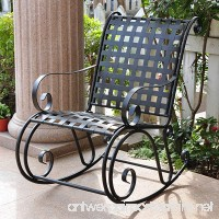 Iron Outdoor Patio Rocker - B0026O1VQ0