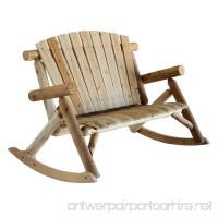 Lakeland Mills Cedar Log Rocking Love Seat  Natural (Discontinued by Manufacturer) - B000BGRQUK