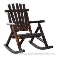Outsunny Fir Wood Rustic Outdoor Patio Adirondack Rocking Chair Furniture - B07BSRCSHJ