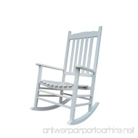 Rockingrocker - A001WT White Porch Rocker/Rocking Chair - Easy To Assemble - Comfortable Size - Outdoor or Indoor Use - B0784QPFSX