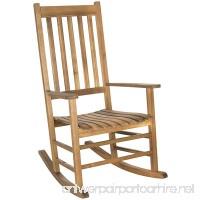 Safavieh Outdoor Living Collection Shasta Rocking Chair Teak Brown - B00KS0NQZS