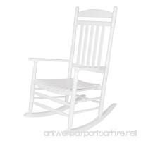 Shine Company Rhode Island Porch Rocker  White - B00IVJ78T8